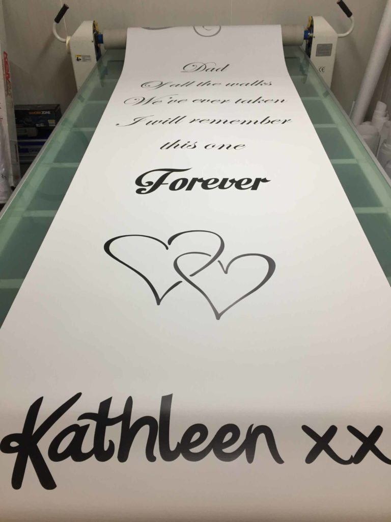 Wedding runner banner