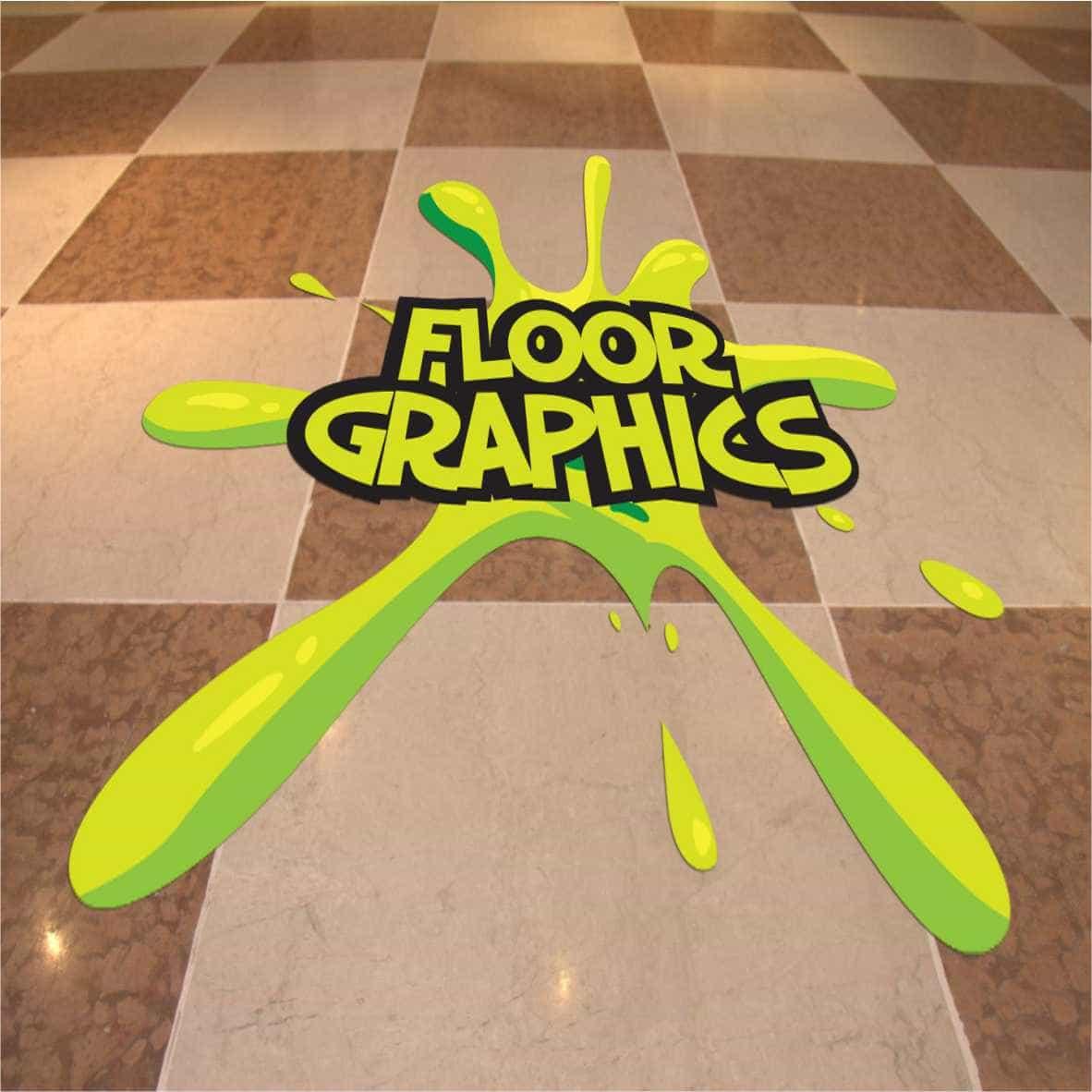 Floor graphics parrot