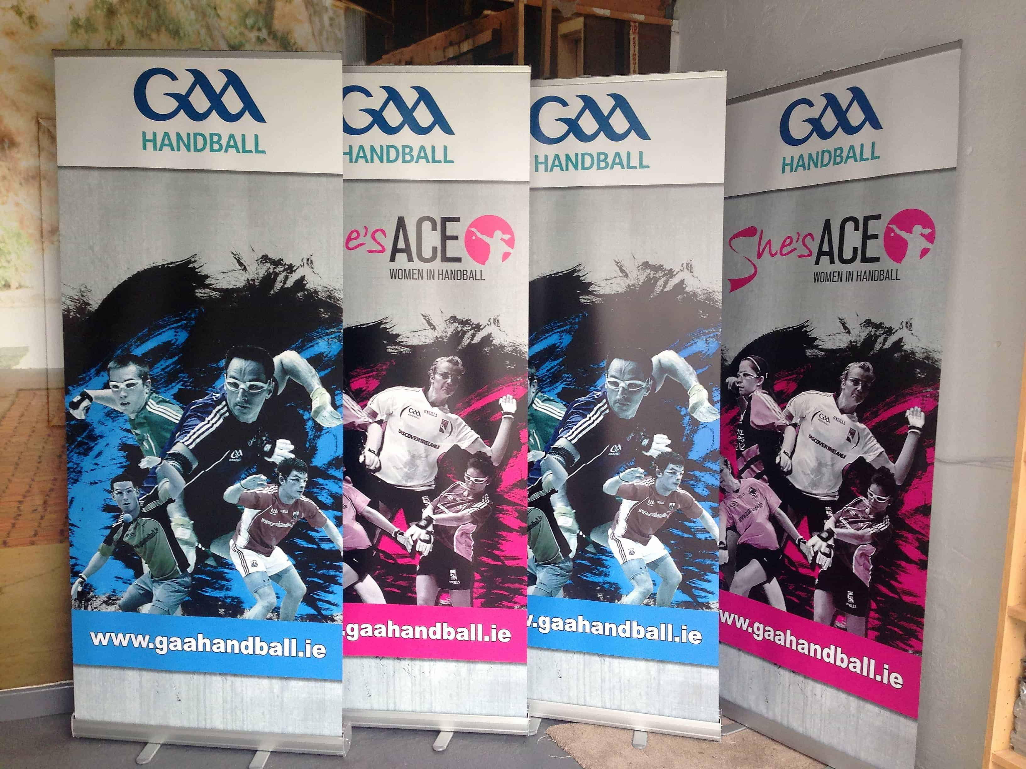 GAA Handball roll up banners