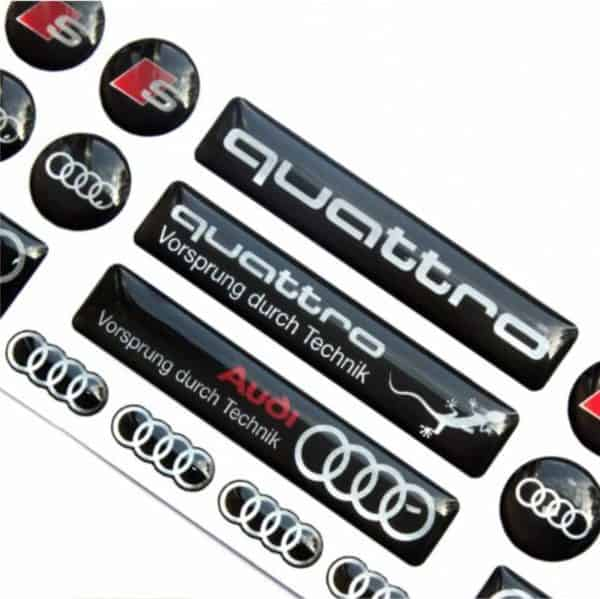 Audi dome stickers