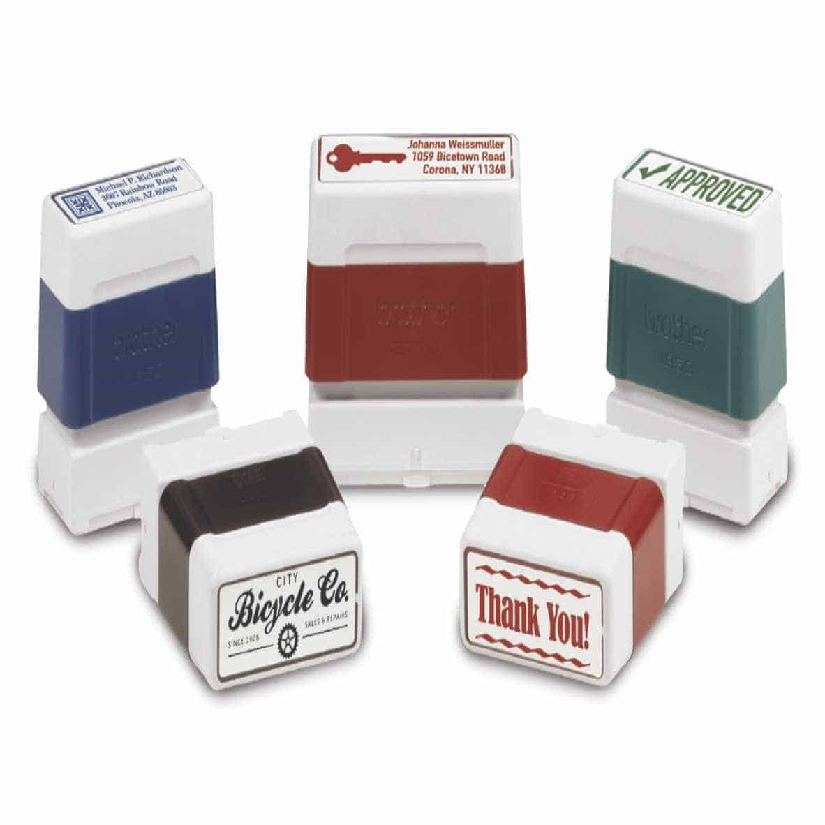 Rubber stamp sizes image