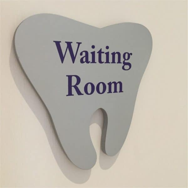 3d signage raised tooth cut shape door sign