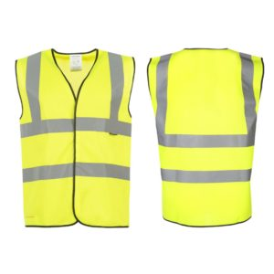 High viz vest front and back