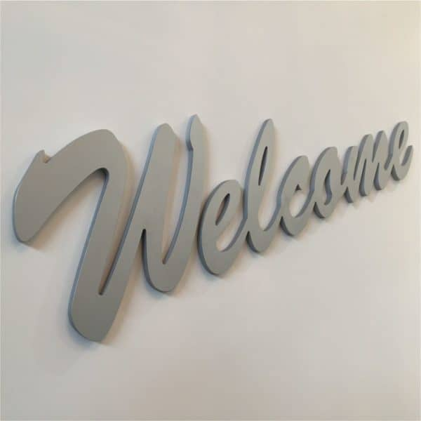 3d signage raised lettering welcome wall sign